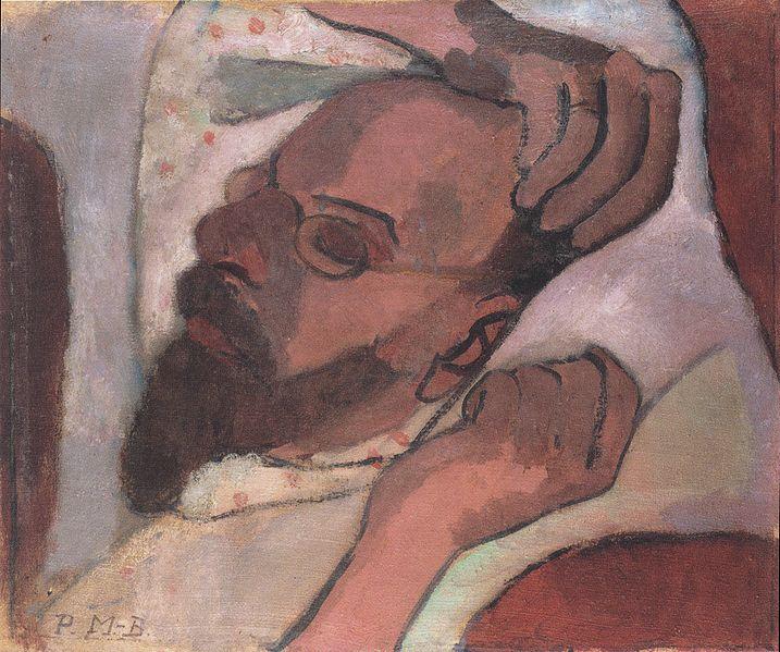 717px-Modersohn-Becker_-_Otto_Modersohn,1906 39,7 x 46,3 cm.